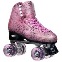 Epic Sparkle Pink Metallic High-Top Quad Roller Skates