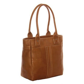 Piel Leather Small Tablet Tote Bag