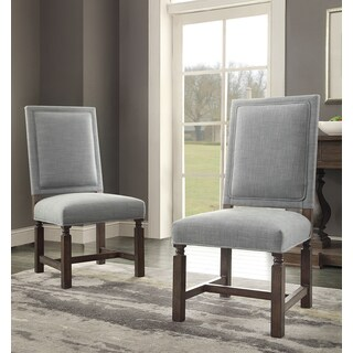 Savoy Dining Chair - Blue Fabric (Set of 2)