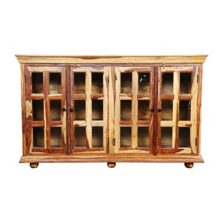 Porter Taos Solid Sustainable Sheesham Sideboard with 24 Glass Panes (India)