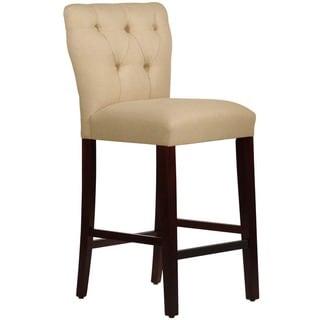Skyline Furniture Tufted Hourglass Bar stool in Linen Sandstone