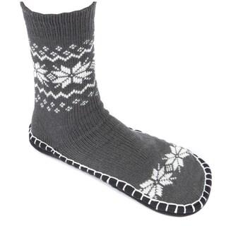 Leisureland Unisex Knitted Cozy Slippers Socks Snowflakes One SIze