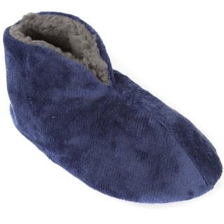Leisureland Men's Fleece Lined Cozy Bootie Slippers Solid Color