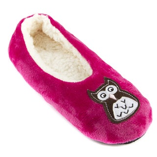 Leisureland Women's Fleece Lined Embroidery Cozy Slippers
