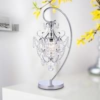 Unnie 1-light Chrome 24-inch Crystal Table Lamp