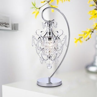 Link to Unnie 1-light Chrome 24-inch Crystal Table Lamp Similar Items in Table Lamps