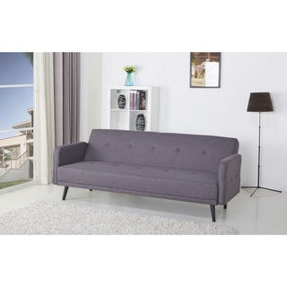 Angelo Home Sutton Antique Silver Gray Sofa With Black Stripe Pillow Reviews Deals Prices