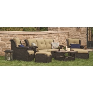 Agio Marseille Woven 6-piece Deep Seating Set