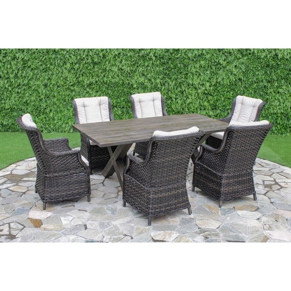Palermo crossroads 7 piece outdoor dining set free for Home goods patio furniture