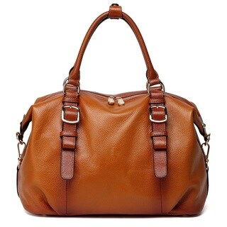 Vicenzo Leather Infinity Leather Top Handle Handbag