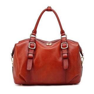 Vicenzo Leather Infinity Leather Top Handle Handbag