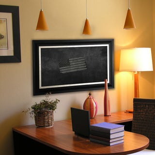 American Made Rayne Grand Black and Aged Silver Blackboard/Chalkboard