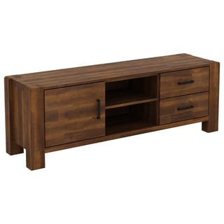 International Caravan Malmo Solid Acacia Hardwood Entertainment Unit
