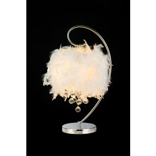 Genesis 3-light White 24-inch Crystal Table Lamp