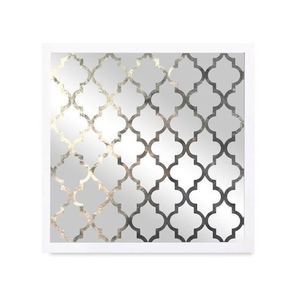 Shop Oliver Gal 'Arabesque Silver' Mirror
