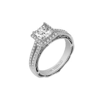 18k White Gold Verragio Split Shank Halo Semi Mount Cubic Zirconia Center and 1/3ct TDW Diamond Ring (F-G, VS1-VS2)|https://ak1.ostkcdn.com/images/products/10909308/P17941080.jpg?impolicy=medium