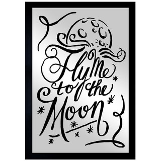 Oliver Gal 'To The Moon Navy' Mirror