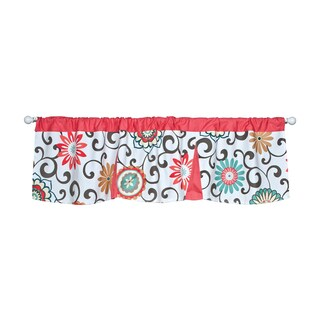 Ternd Lab Waverly Pom Pom Play Floral Window Curtain Valance