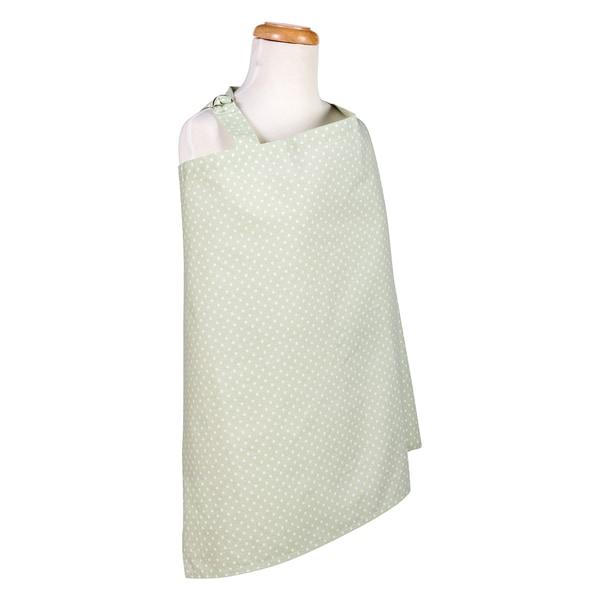 Sea Foam Dot Nursing Cover