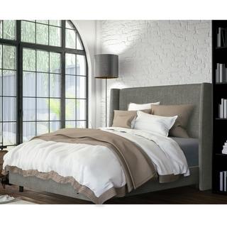 Skyline Furniture Wingback Bed in Zuma Charcoal