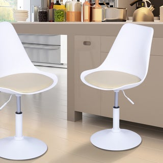 Adeco Tulip Dining Chair(set of Two)