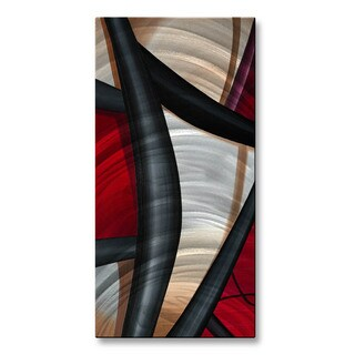'Wow and Red 2' Jerry Clovis Metal Wall Art