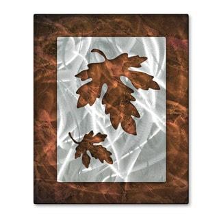 'Oaky Leaflets' Josh Heriot Metal Wall Art