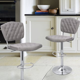 Adeco Modern Adjustable Swivel Bar Stool (Set of 2)