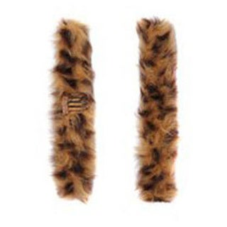 Pop Faux Cheetah Fur Snap Wrap (Pack of 2)