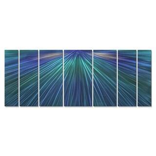 Metal Wall Art 'Shine The Blue Light' Ash Carl