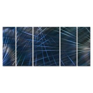 Metal Wall Art 'Blue Network II' Ash Carl