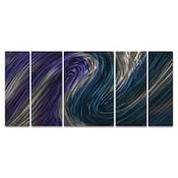 Metal Wall Art Sculpture 'Blue Stream II' Ash Carl