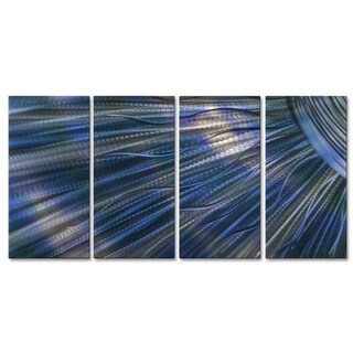 Metal Wall Art 'Blue Sunshine III' Ash Carl