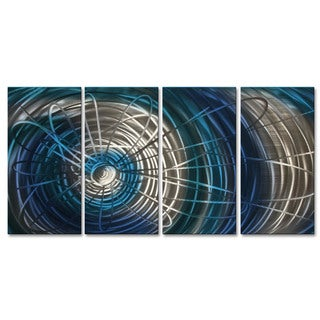 Metal Wall Art 'Blue Electric Expansion III' Ash Carl