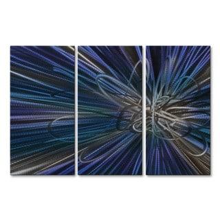Metal Wall Art 'Blue Electron Ray IV' Ash Carl