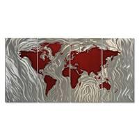 Metal Wall Art 'Mapped Out II' Ash Carl