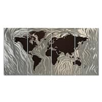'Mapped Out III' Ash Carl Metal Wall Art