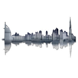 Metal Wall Art 'Dubai Reflection' Ash Carl