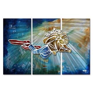 Metal Wall Art 'Guy SCUBA Diving 1' Megan Duncanson