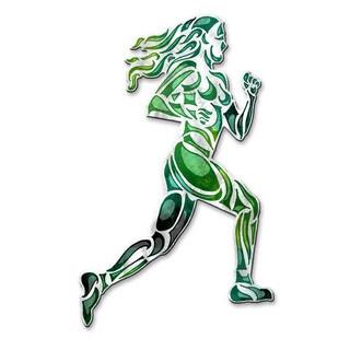 Metal Wall Art Sculpture 'Girl Running' Megan Duncanson