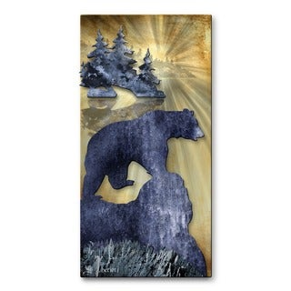 Metal Wall Art 'Bear by the Lake' Josh Heriot