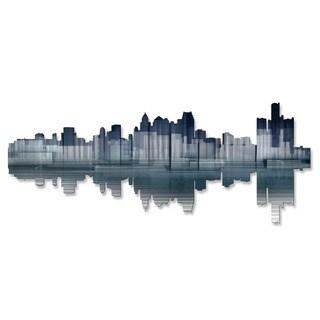 'Detroit Reflection' Ash Carl Metal Wall Art