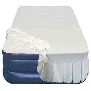 Airtek Twin Flocked top Airbed with Skirted Sheet