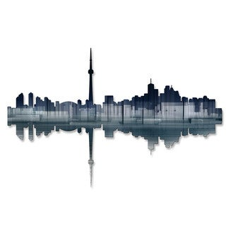 'Toronto Reflection' Ash Carl Metal Wall Art Sculpture