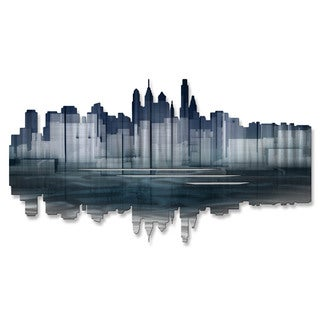 Metal Wall Art 'Philadelphia Reflection' Ash Carl