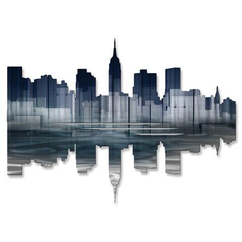 Metal Wall Art 'New York City Reflection II' Ash Carl
