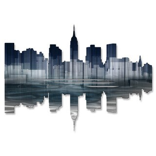 Metal Wall Art 'New York City Reflection II' Ash Carl