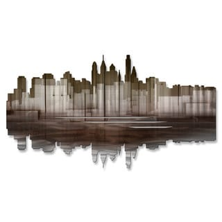 Metal Wall Art 'Philadelphia Reflection II' Ash Carl