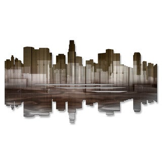 'Los Angeles Reflection II' Ash Carl Metal Wall Art Sculpture