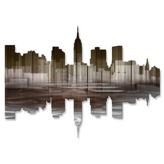 Metal Wall Art 'New York City Reflection III' Ash Carl